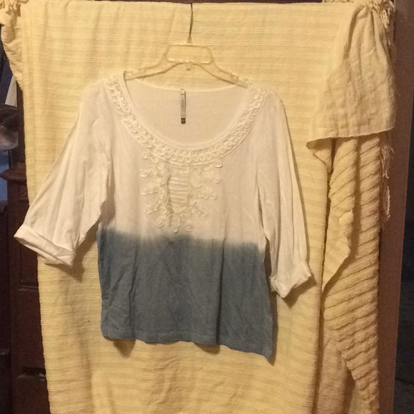 Tops - Belle Tweed Three-quarter top size 14 W/16 W